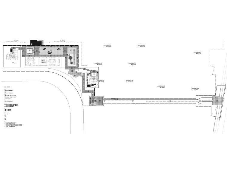 [浙江]居住示范区景观设计施工图+SU模型-总平面铺装图