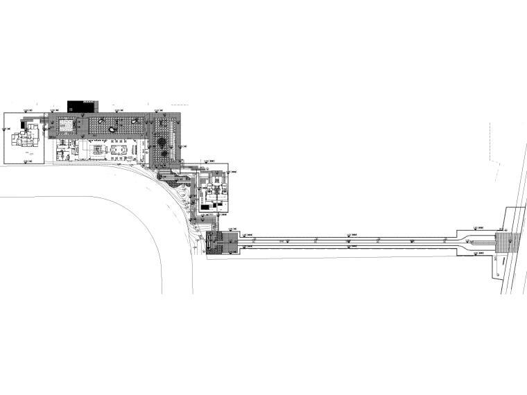 [浙江]居住示范区景观设计施工图+SU模型-景观给水总平面图