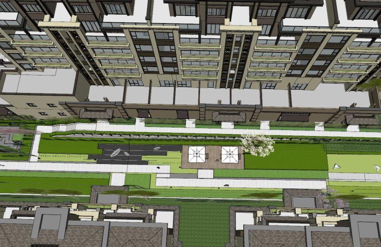 [重庆]新中式风格住宅次入口景观模型设计-新中式风格住宅次入口景观模型设计 (9)