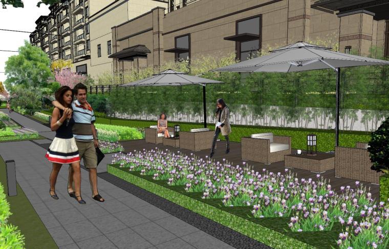[重庆]新中式风格住宅次入口景观模型设计-新中式风格住宅次入口景观模型设计 (10)
