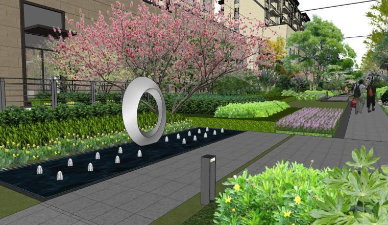 [重庆]新中式风格住宅次入口景观模型设计-新中式风格住宅次入口景观模型设计 (13)