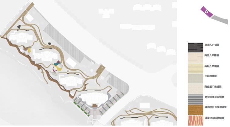 [南京]滨水高档住宅小区景观方案文本+SU-铺装设计