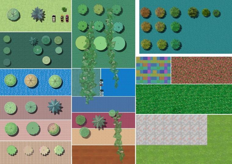 园林景观植物平面素材(PSD格式)-平面图 天晓素材