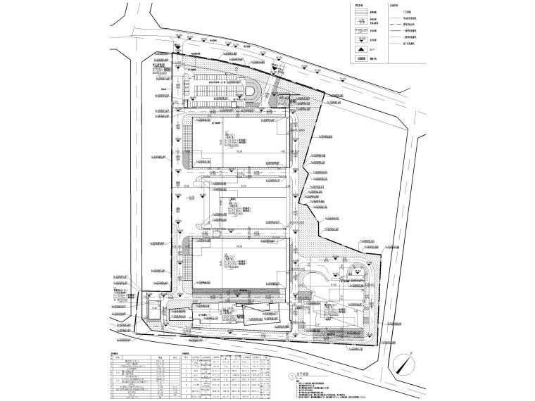 [广东]科技产业园工程多层仓库建筑施工图-总平面图