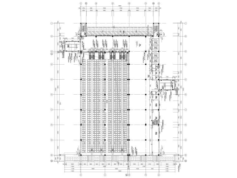 [广东]科技产业园工程多层仓库建筑施工图-二层平面图