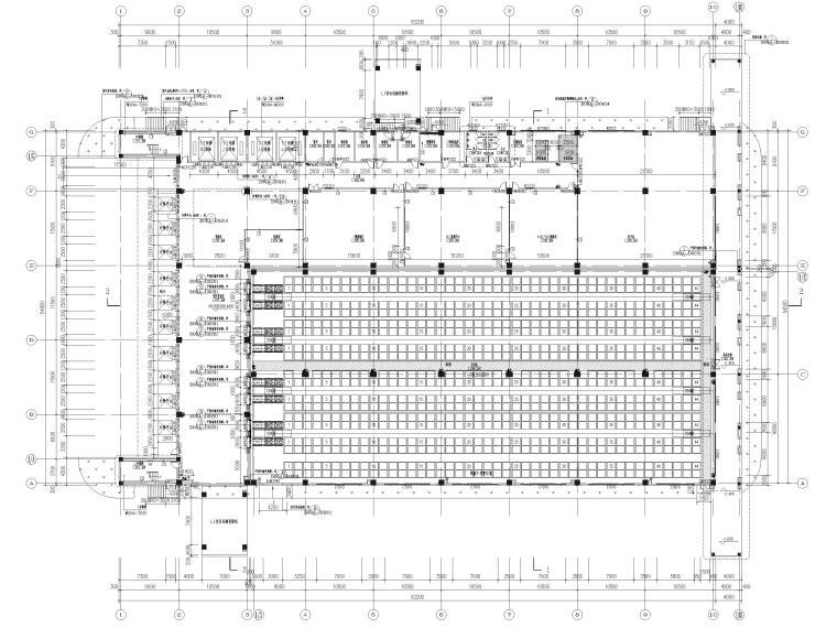 [广东]科技产业园工程多层仓库建筑施工图-一层平面图
