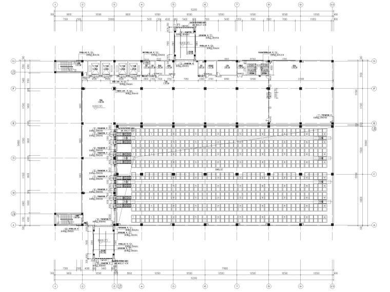 [广东]科技产业园工程多层仓库建筑施工图-三层平面图