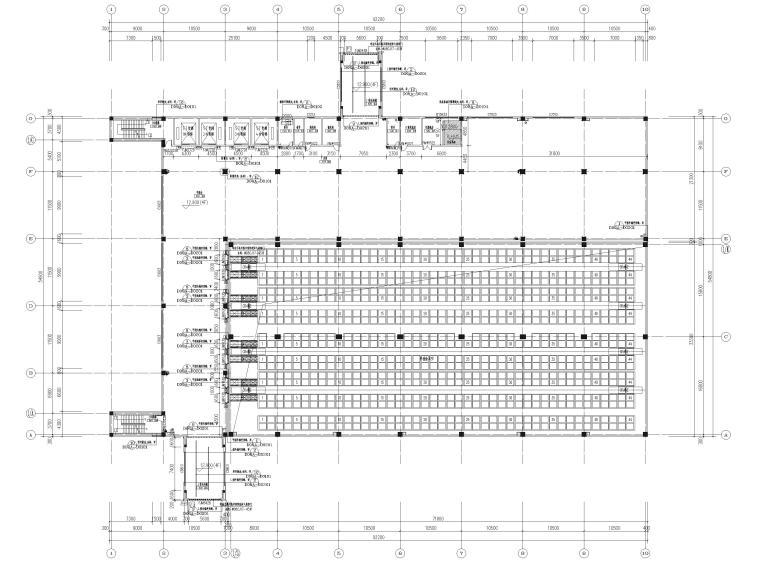 [广东]科技产业园工程多层仓库建筑施工图-四层平面图
