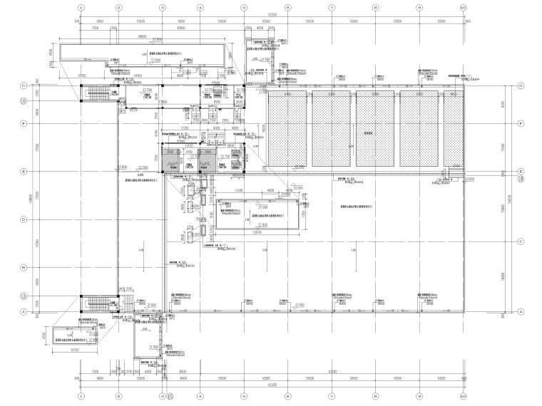[广东]科技产业园工程多层仓库建筑施工图-屋顶层平面图