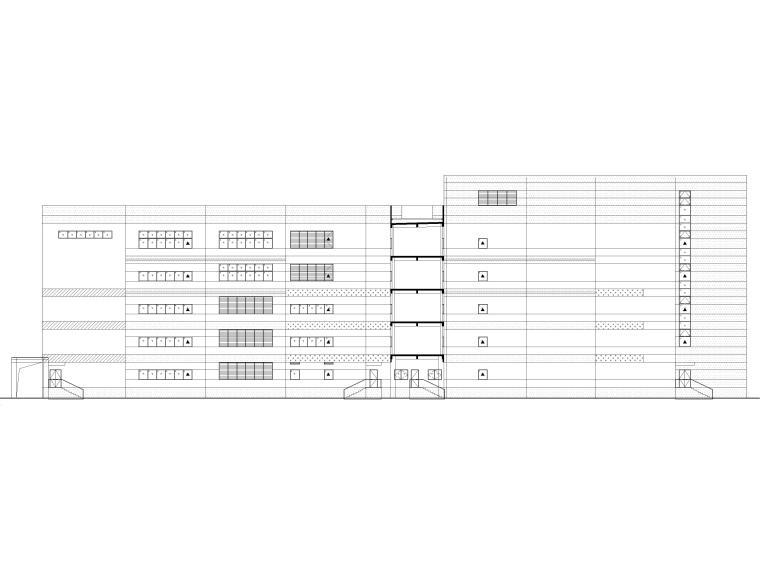 [广东]科技产业园工程多层仓库建筑施工图-建筑立面图