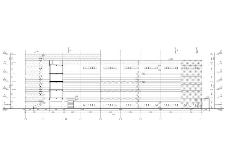 [广东]科技产业园工程多层仓库建筑施工图-建筑立面图2