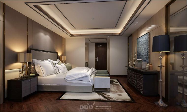 [上海]翡翠江湾新中式三层四居室别墅施工图-03