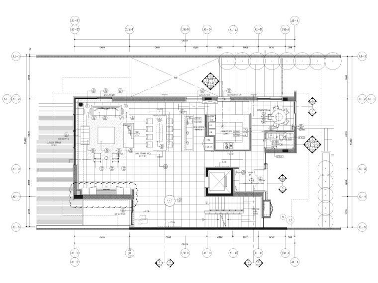 [三亚]晋园三层五居室别墅样板间装修施工图