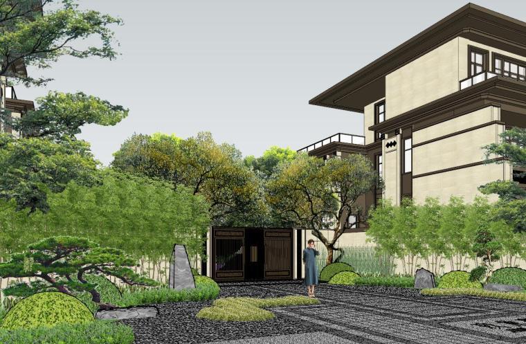 新中式风格玖龙台别墅景观模型设计 (7)