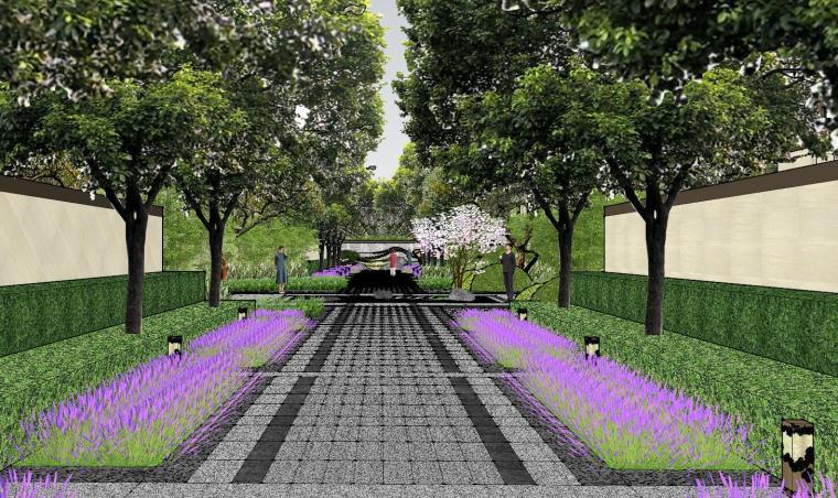 新中式风格玖龙台别墅景观模型设计 (8)