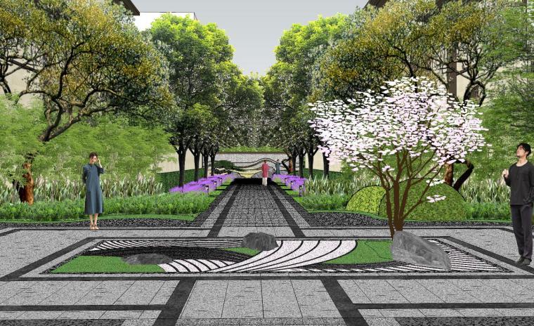 新中式风格玖龙台别墅景观模型设计 (9)