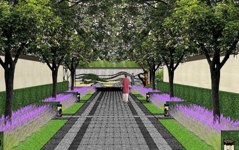 新中式风格玖龙台别墅景观模型设计 (11)