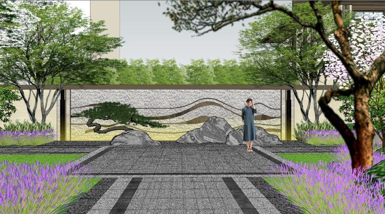 新中式风格玖龙台别墅景观模型设计 (12)