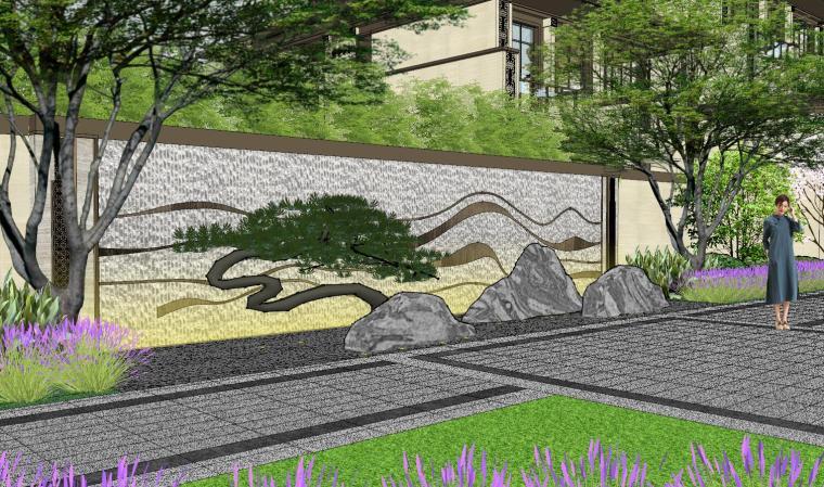 新中式风格玖龙台别墅景观模型设计 (13)