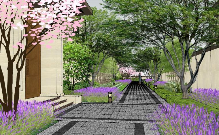 新中式风格玖龙台别墅景观模型设计 (14)