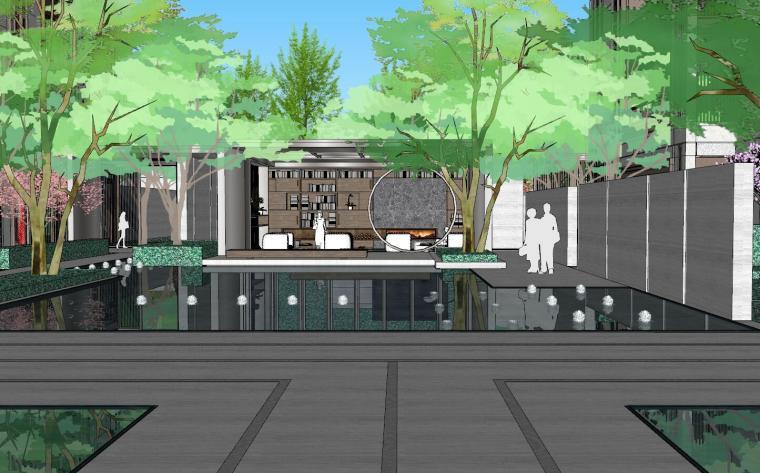 [上海]知名企业新中式璞悦名庭住宅景观模型-知名企业新中式璞悦名庭住宅景观模型 (1)