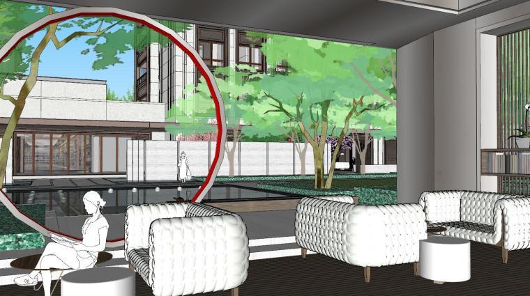 [上海]知名企业新中式璞悦名庭住宅景观模型-知名企业新中式璞悦名庭住宅景观模型 (4)