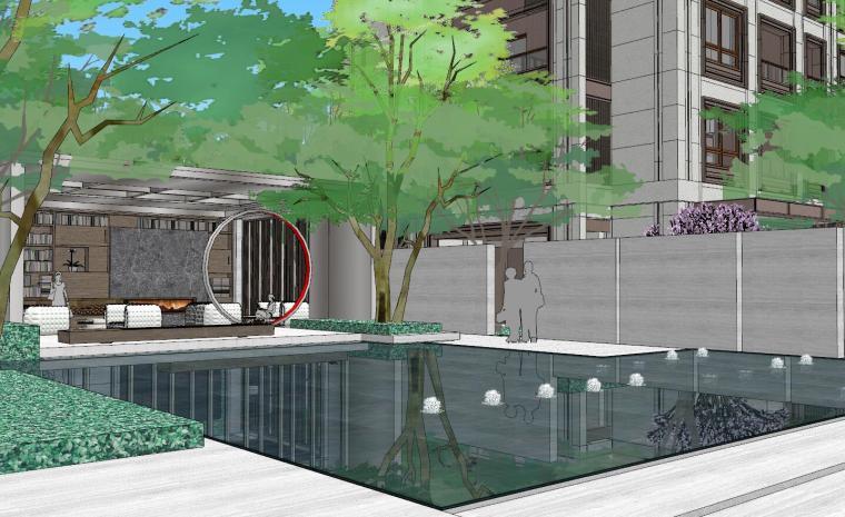 [上海]知名企业新中式璞悦名庭住宅景观模型-知名企业新中式璞悦名庭住宅景观模型 (2)
