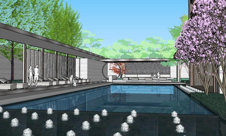 [上海]知名企业新中式璞悦名庭住宅景观模型-知名企业新中式璞悦名庭住宅景观模型 (7)