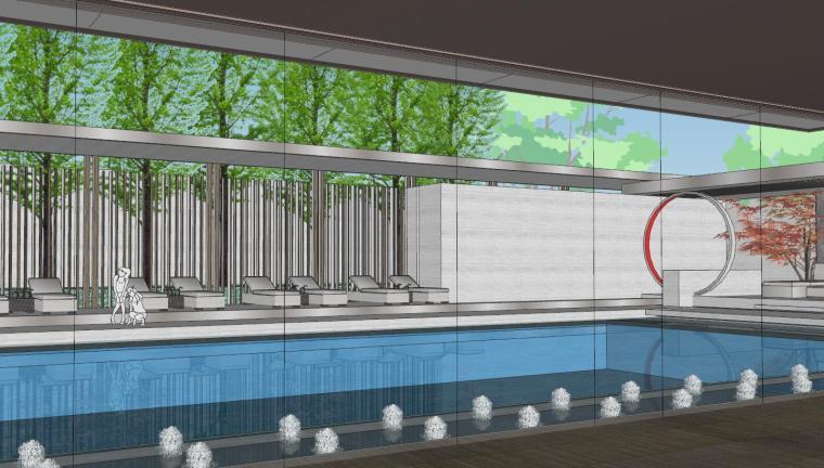 [上海]知名企业新中式璞悦名庭住宅景观模型-知名企业新中式璞悦名庭住宅景观模型 (9)