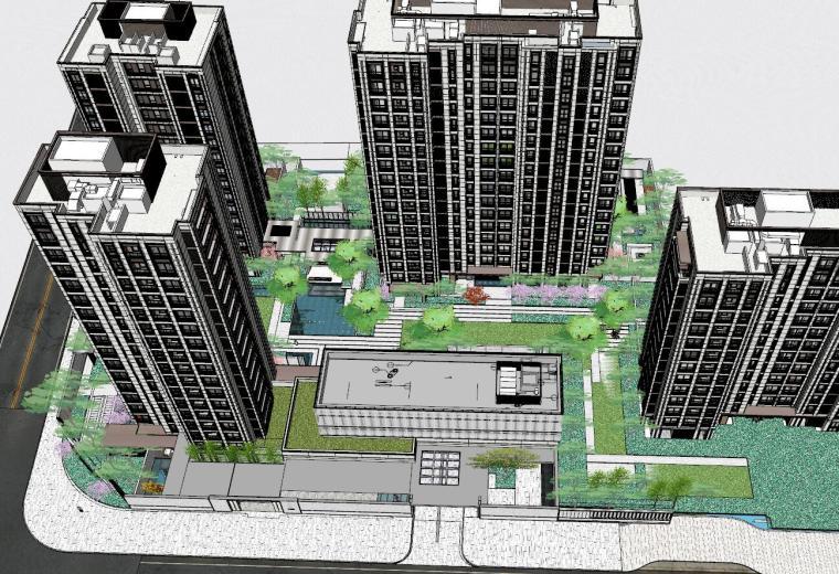 [上海]知名企业新中式璞悦名庭住宅景观模型-知名企业新中式璞悦名庭住宅景观模型 (11)