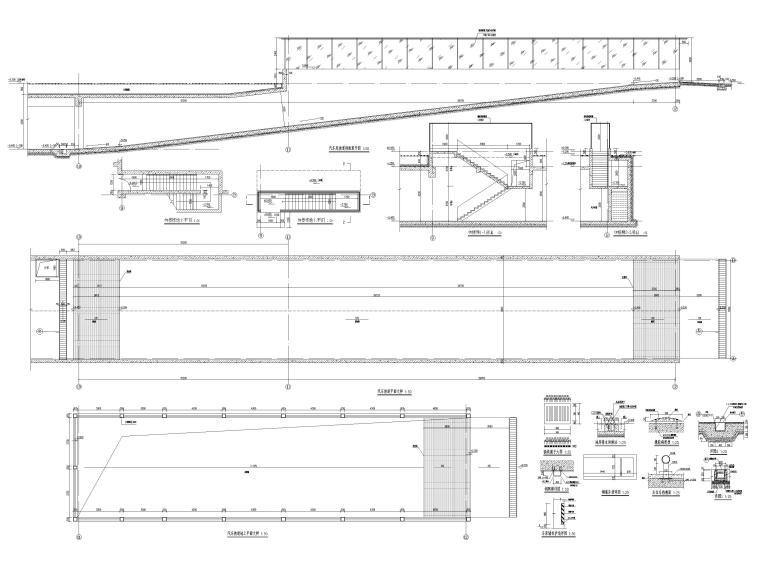 [福建]高中三层框架结构食堂建筑项目施工图-汽车坡道大样