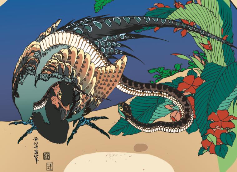 100套日本浮世绘风格可编辑展板素材合集-展板1
