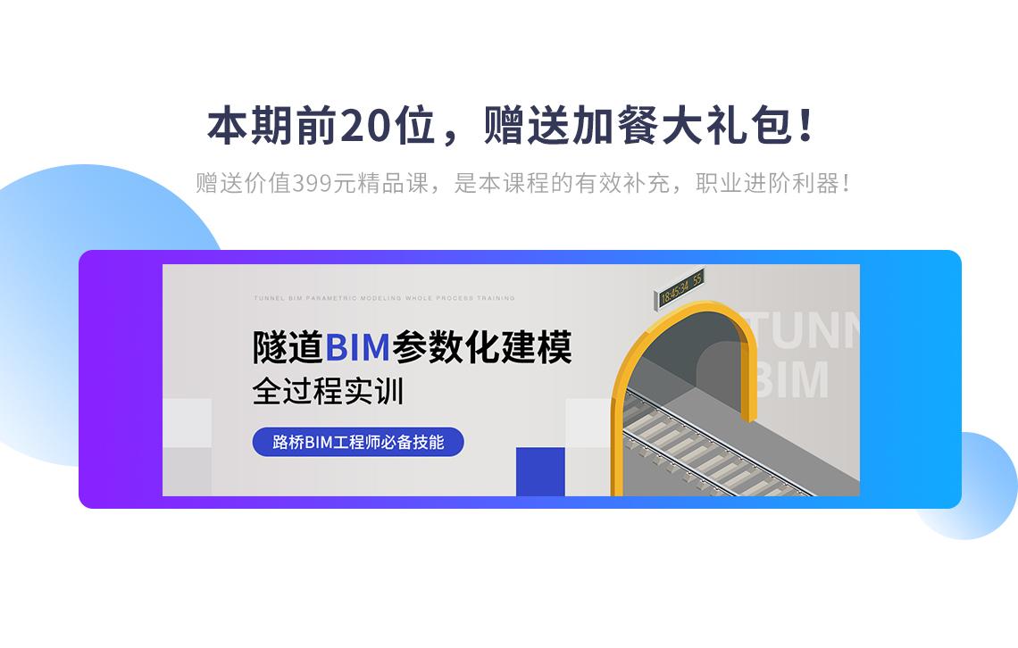 价值399元的隧道BIM参数化建模全过程实训,是路桥BI工程师训练营课程的有效补充,职业进阶利器!