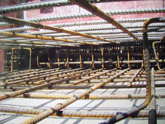 筏板基础施工特点和施工方法-筏板基础示意图