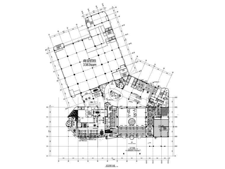 [江苏]苏宁环球酒店空调通风设计图纸-首层采暖平面图