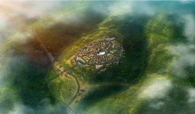 [安徽]宣城山水养生休闲村庄旅游规划景观-皖南音画乡村效果示意图