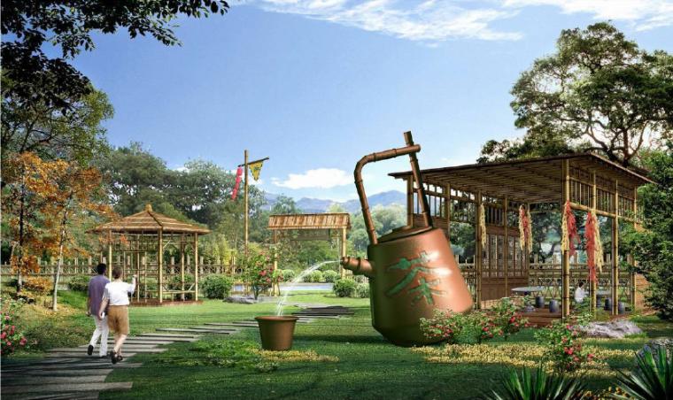 [安徽]宣城山水养生休闲村庄旅游规划景观-禅茶文化景观效果图