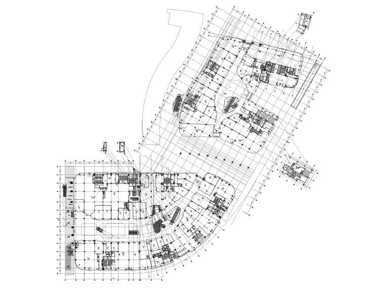 [江苏]苏州多层综合商场建筑施工图+SU模型-BCQ区一层平面图