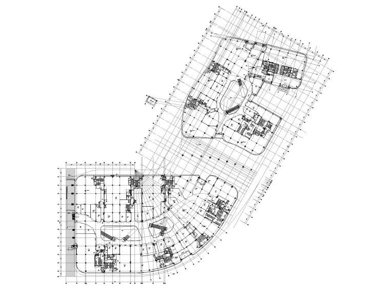 [江苏]苏州多层综合商场建筑施工图+SU模型-BCQ区二层平面图