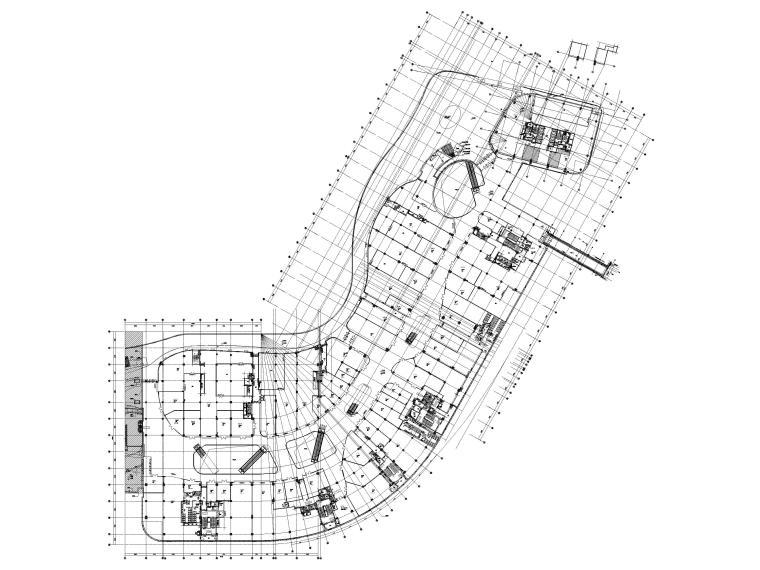 [江苏]苏州多层综合商场建筑施工图+SU模型-BCQ区三层平面图