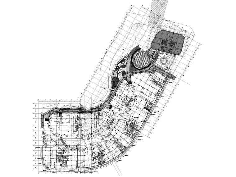 [江苏]苏州多层综合商场建筑施工图+SU模型-BCQ区四层平面图