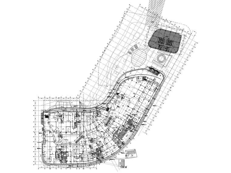 [江苏]苏州多层综合商场建筑施工图+SU模型-BCQ区五层平面图