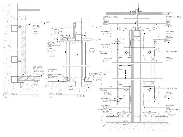 [江苏]苏州多层综合商场建筑施工图+SU模型-节点大样详图