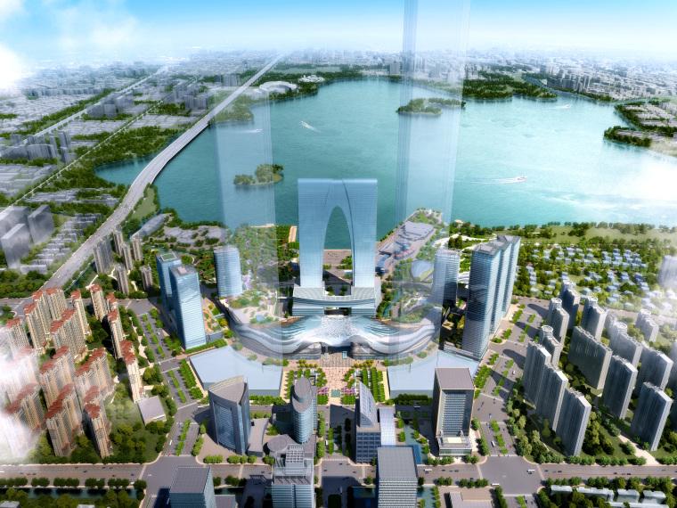 [江苏]苏州多层综合商场建筑施工图+SU模型-0630东方之门ghs-n1_zw(2)