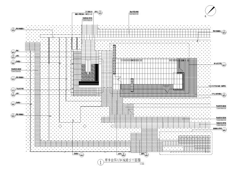 [重庆]现代高端小区绿化cad施工图2019-摩卡会客厅区域详图