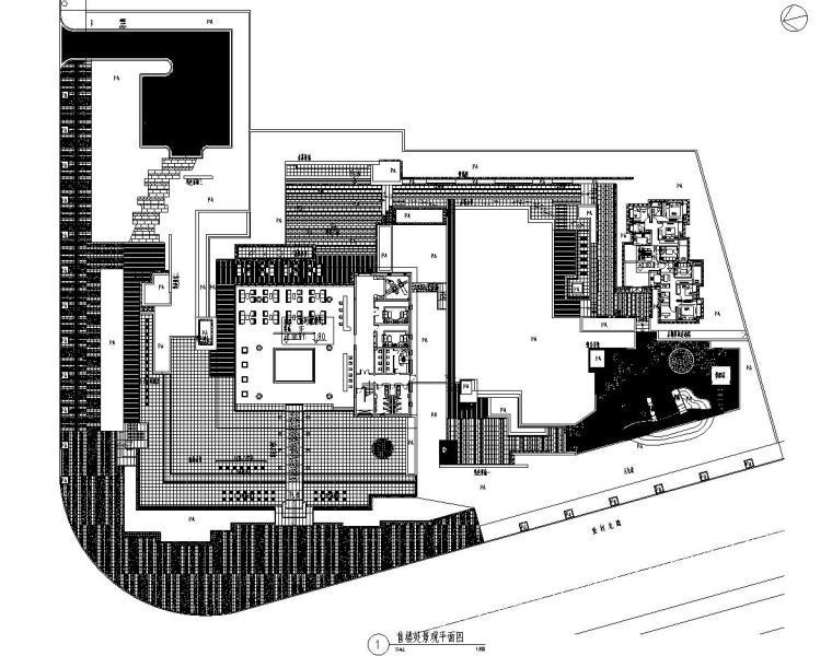 [江苏]知名企业丽景湾展示区园建CAD施工图-01 总平面图