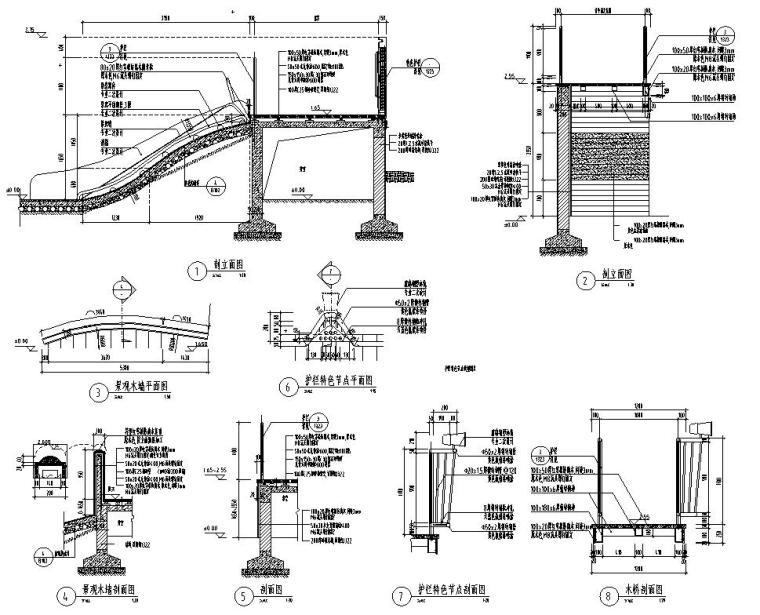 [江苏]知名企业丽景湾展示区园建CAD施工图-儿童活动台地详图3