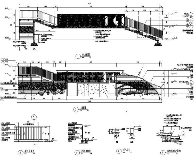 [江苏]知名企业丽景湾展示区园建CAD施工图-儿童活动台地详图1