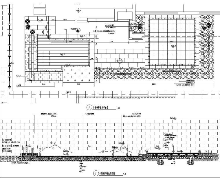 [浙江]新亚洲风格顶豪地产示范区景观施工图-不锈钢树池详图