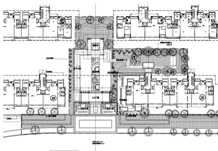 [浙江]新亚洲风格顶豪地产示范区景观施工图-01 总平面图